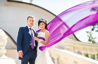 фиолетовая свадьба, фото сиреневая свадьба, стильные свадьбы фото