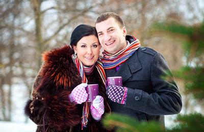 свадьба зимой в Подольске, фотограф на свадьбу, зимняя фотосъемка